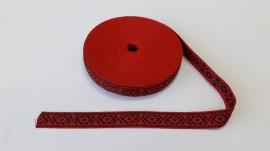Banda tesuta Noni 20 mm - rosu cu negru