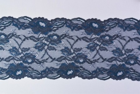 Dantela neelastica albastra 17 cm, cod167