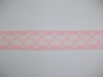 Dantela neelastica roz 4 cm, cod194