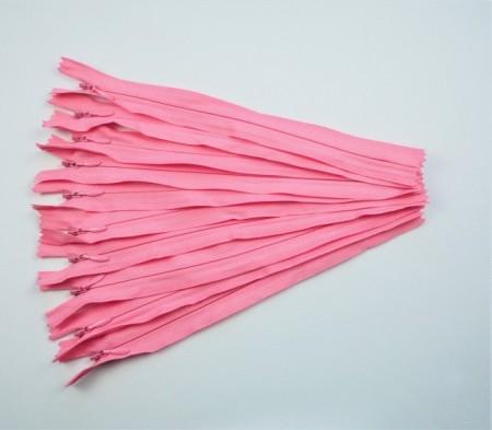 Fermoare invizibile 20 cm roz inchis
