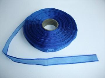 Panglica organza 10 mm - albastru
