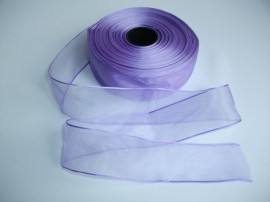 Panglica organza 40 mm lila