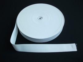 Elastic lat 30 mm alb si negru