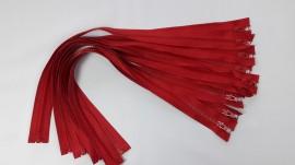 Fermoare detasabile #5 injectate 50,60,70,75,80,90 cm rosu