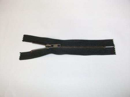 Fermoare fixe #4 metal 10 cm negre cu dinti negrii