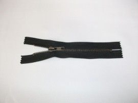 Fermoare fixe #5 metal 18 cm negre cu dinti negrii