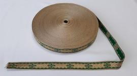 Poze Galon bisericesc Sava 25 mm auriu cu verde