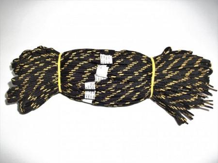 Sireturi satirate 110 cm galben cu negru