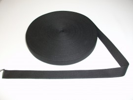Banda bumbac 10,15, 20, 25 mm neagra