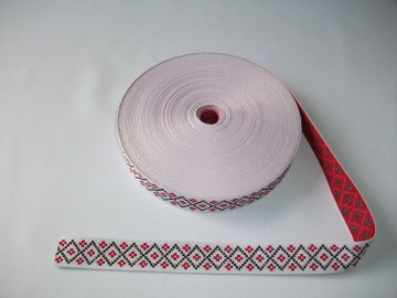 Banda tesuta Tincuta 25 mm - fond alb