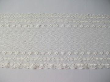 Dantela elastica - alb unt 16 cm, cod148