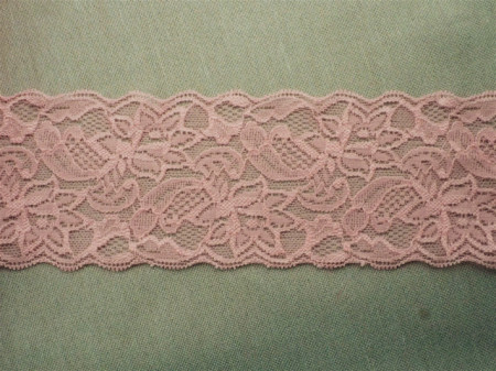Dantela elastica roz 8cm, cod300