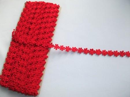 *Dantela poliester 1.4 cm, cod4824 - rosie