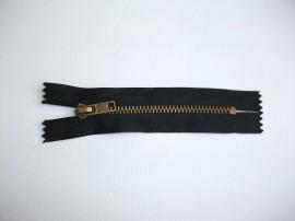 Fermoare fixe #4 metal 10 cm negru cu dinti auriu arhaic