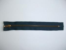 Fermoare fixe #5 metal 18 cm bleumarin cu dinti auriu arhaic