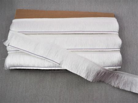 Franjuri poliester 4cm/10m - alb