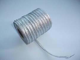 Panglica argintie 6 mm