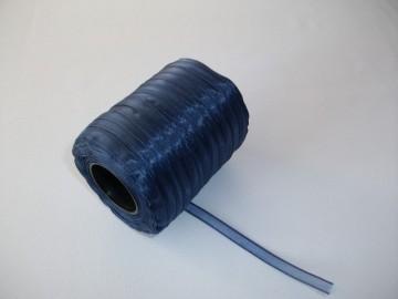 Panglica organza 6 mm - bleumarin