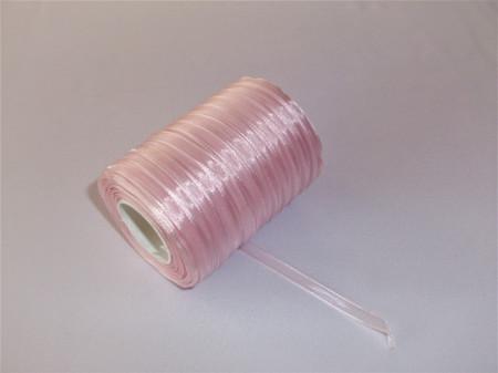 Panglica organza 6 mm - roz
