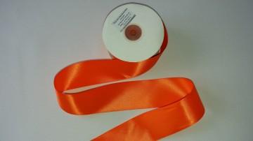 Panglica satinata ambele fete 50 mm portocalie