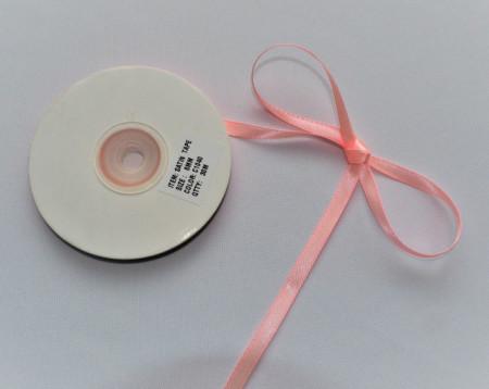 Panglica satinata ambele fete 6 mm roz