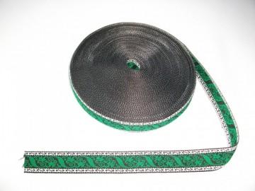 Banda tesuta Cezara 40 mm - model pe verde