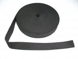 Elastic lat 25 mm alb si negru