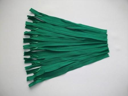 Fermoare invizibile 20 cm verde