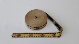 Galon bisericesc Sava 25 mm auriu cu negru
