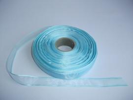 Panglica organza 15 mm bleu