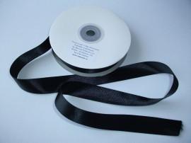 Panglica satinata ambele fete 15 mm negru