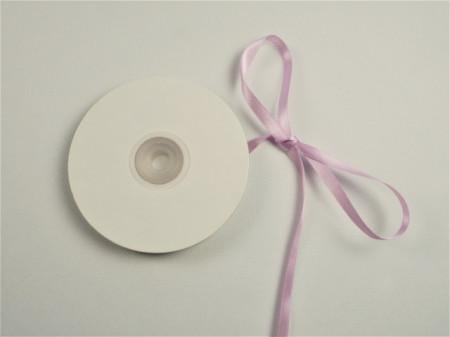 Panglica satinata ambele fete 6 mm lila
