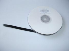 Panglica satinata ambele fete 6 mm negru