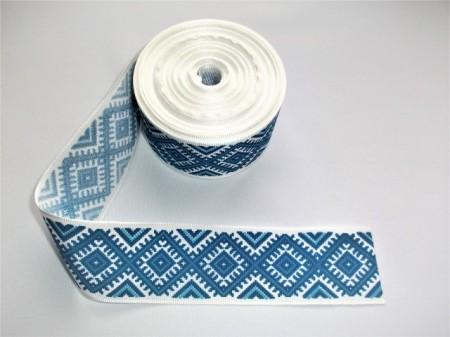 Banda imprimata Suceveni albastru - 25, 45 mm