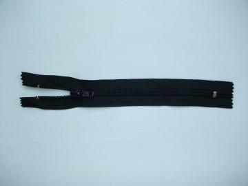 Fermoar fix 20,30,35,40,45cm negru
