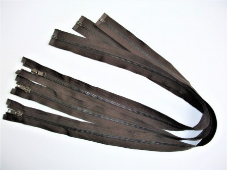 Fermoare detasabile #5 metal maro 50, 60, 70, 80, 90 cm