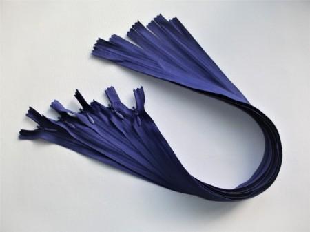 Fermoare invizibile 50 cm albastru indigo, cod176