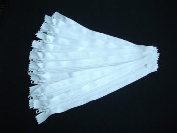 Fermoare pantaloni #5 - 20 cm alb
