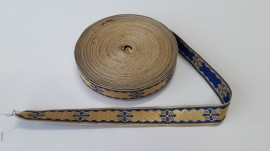 Galon bisericesc Sava 25 mm auriu cu albastru