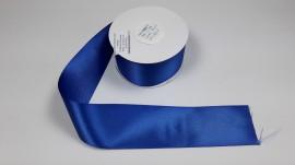 Panglica satinata ambele fete 38 mm albastra