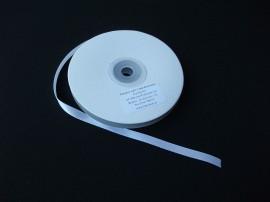 Panglica satinata ambele fete 6 mm alba