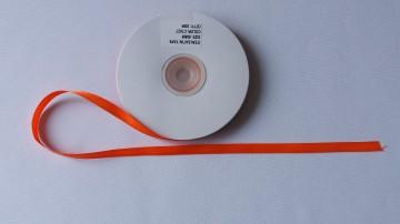 Panglica satinata ambele fete 6 mm portocalie