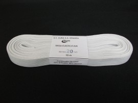 Elastic Oradea 20 mm alb si negru