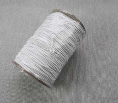 *Elastic Oradea Rotund - alb si negru, 1.5mm/100m