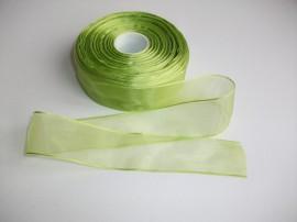 Panglica organza 40 mm verde praz