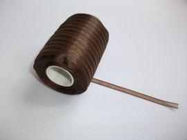 Panglica organza 6 mm - maro