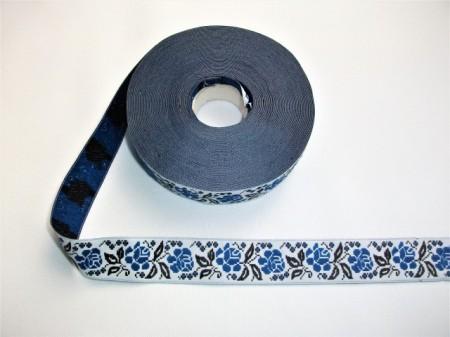 Banda tesuta Dobrogea 25 mm - cu albastru