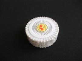 Bolduri cap perla albe