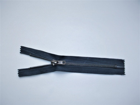 Fermoare fixe #5 metal 14 cm bleumarin cu dinti negrii