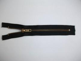 Fermoare fixe #5 metal 18 cm negre cu dinti auriu arhaic